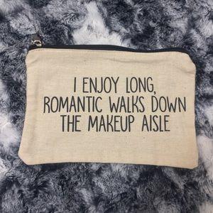"•Burlap• ""Romantic Walks"" Cosmetic Bag"